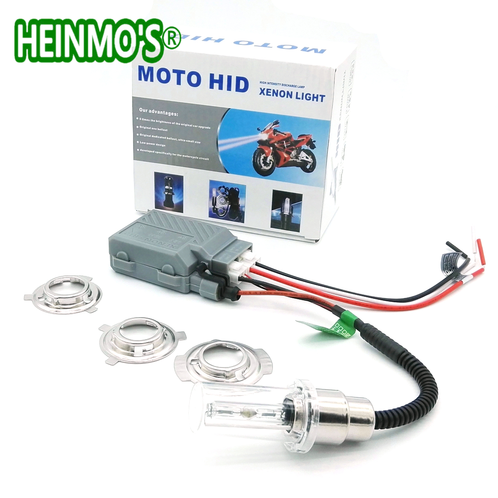 Motorcycle 35W HID Xenon Head Light Bulb H4 H6M H6 BA20D Hi/Lo Motocross Headlight Bulbs Moto HID Xenon Lamp Motor Headlight