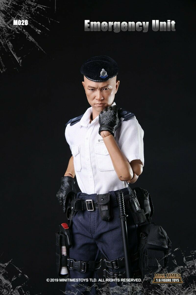 Minitimes toys M020 1//6 Scale Hong Kong Emergency Unit Policeman Shotgun Model