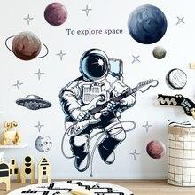 Съемная Наклейка на стену декоративный стикер с рисунком астронавта