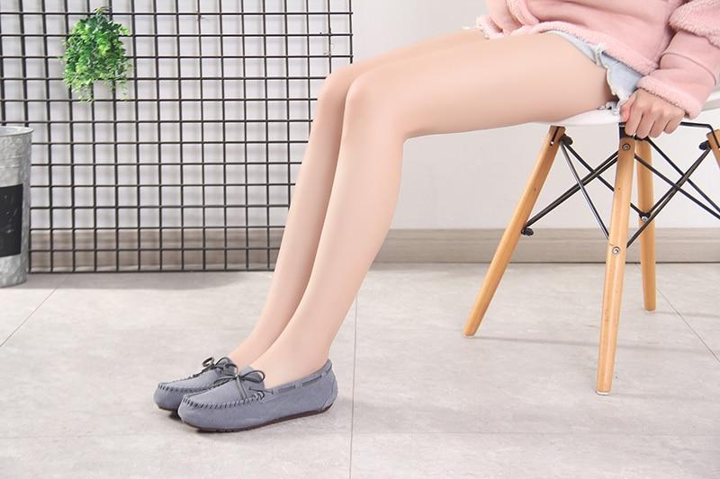 100% sapatos femininos de couro genuíno sapatos