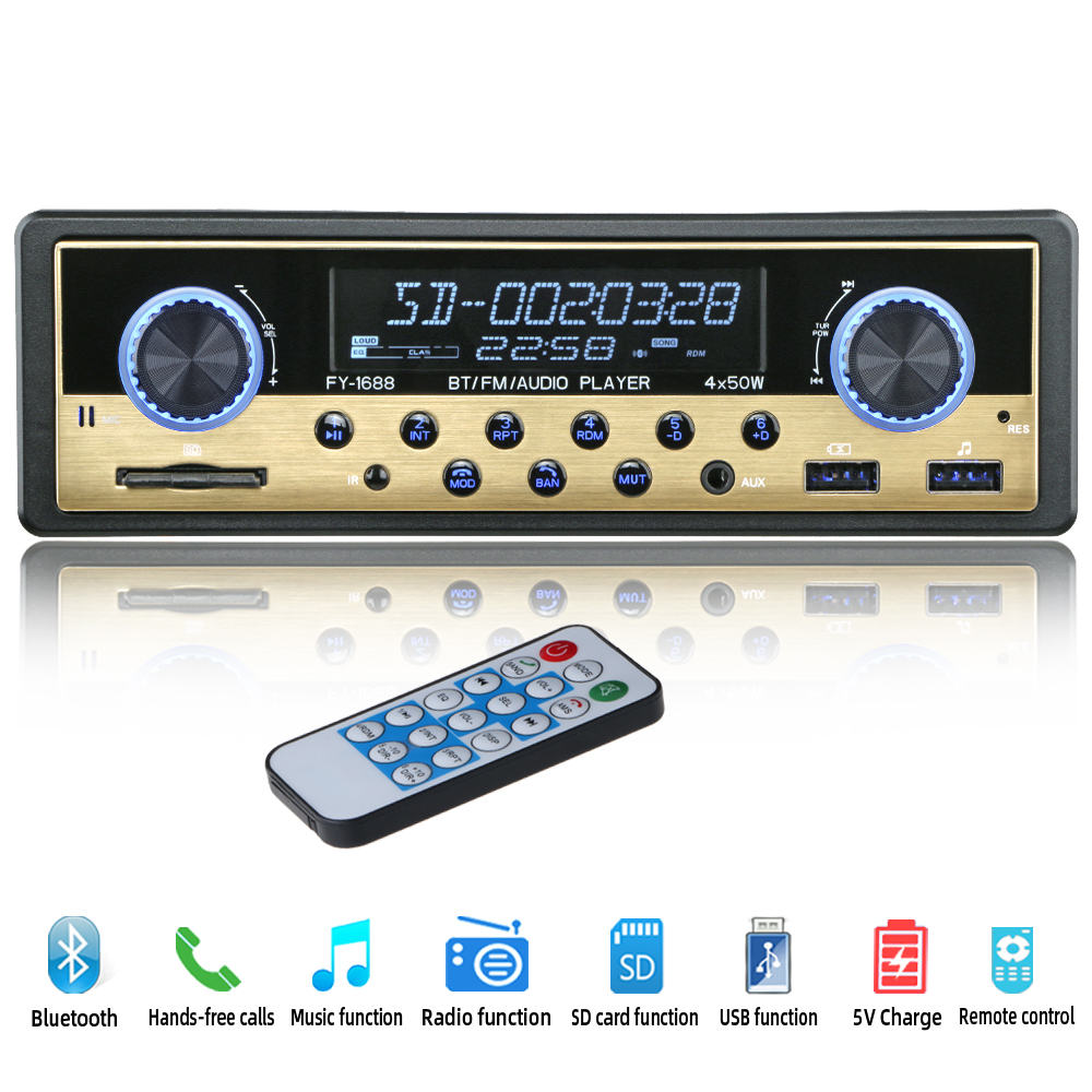 Autoradio 1 din Car Radio Coche Bluetooth Stereo Audio FM Receiver USB SD AUX Autostereo MP3 Multimedia Player Auto Electronics image