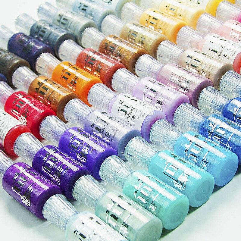 30ml NUVO 3D Crystal Drops 1oz Enamel Liquid Handbook Scrapbook Album Canvas Decoration Chameleon Pigment Blanks Pigment