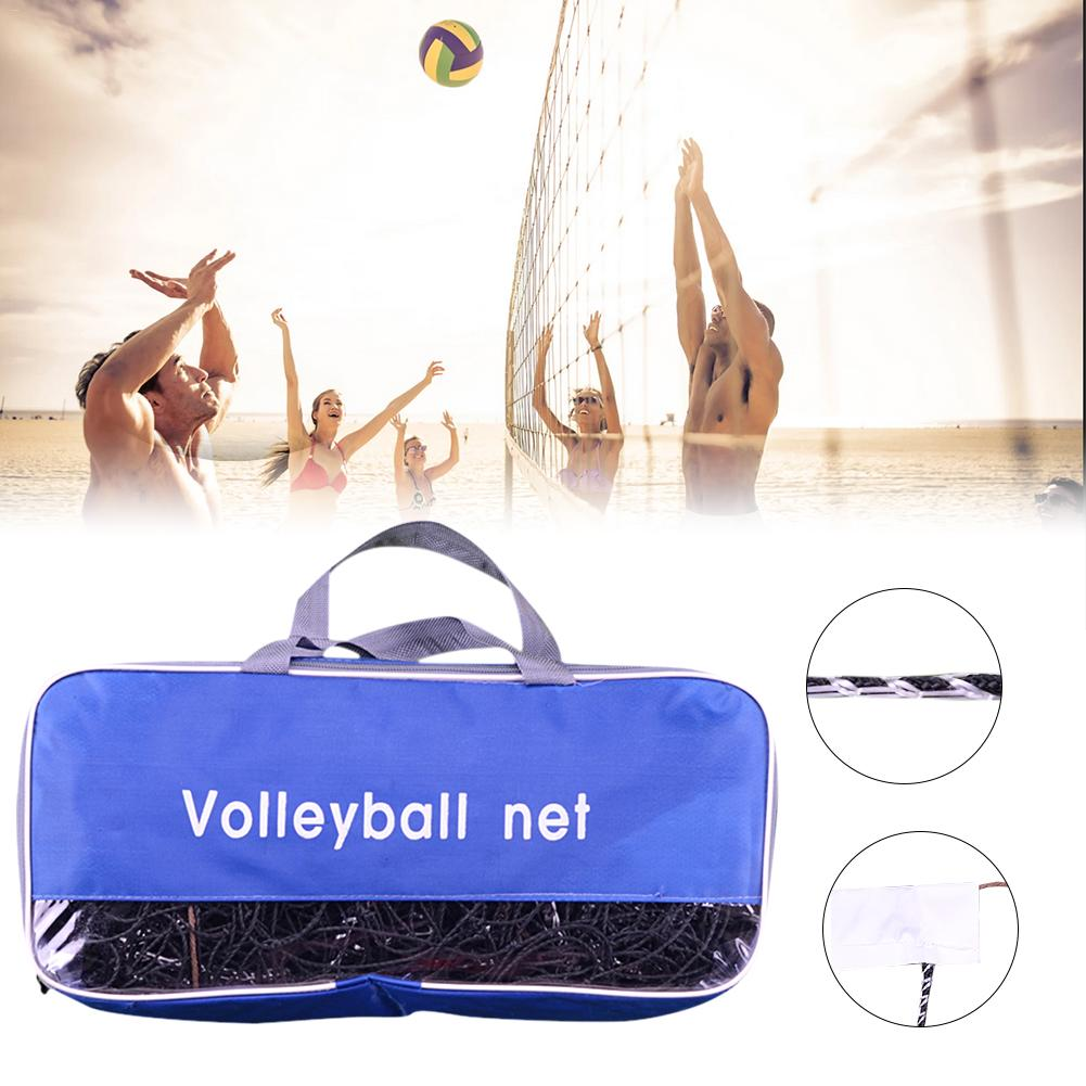 9.5m*1m Standard Volleyball Net Beach Volleyball Net For Practice Training Volleyball Replacement Net For Indoor Outdoor Sports