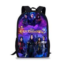 Thikin Descendants Students School Bag for Girls Teenagers Backpack Supplies Package Shopping Shoulder Women Mochila