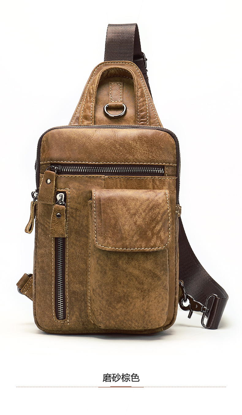 Men's Crossbody Bags Male's In Brown Designer Messenger Bag Leather Shoulder Bags Diagonal Package 2018 New Back Pack Travel