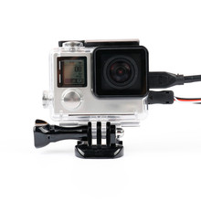 Skeleton Protective case Housing Side-opening & Backdoor with hole with lens glass for GoPro Hero 3+ 4 Accessories