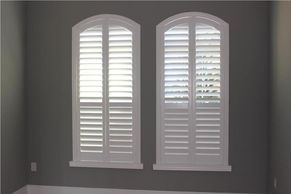 Custom Basswood Plantation Shutters Wooden Blinds Solid Wood Shutter Louvers PS226