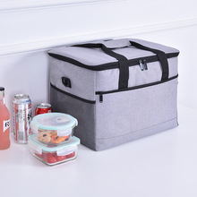 Large capacity insulation Oxford cloth waterproof ice pack car insulation outdoor picnic barbecue lunch box bag недорого
