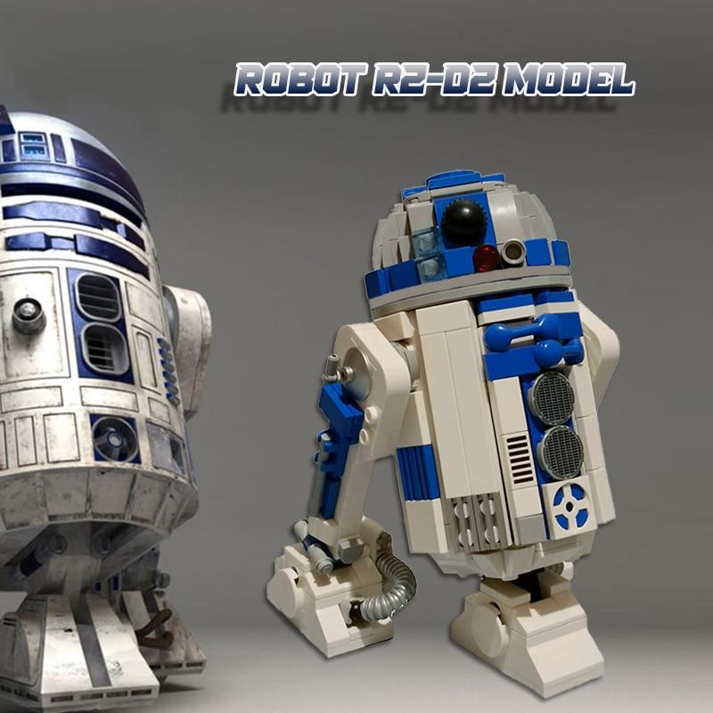Космические роботы R2-D2 модель мс конструкторных блоков, Детские кубики наборы игрушек для детей и взрослых подарки пространство Wars блоки 473 ...