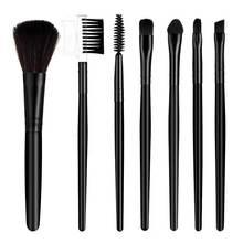 7pcs portable makeup brush set eyeshadow mixing eyeliner eyelash eyebrow blush makeup brush tool kit