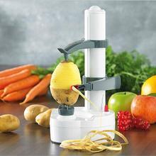 Автоматическая электрическая Картофелечистка из нержавеющей стали, многофункциональная овощная Яблочная вращающаяся Овощечистка, Кухонная машина для пилинга