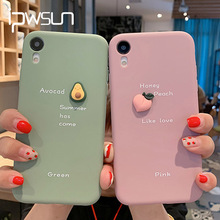 iPWSOO 3D Avocado Fruits Silicone Case For iPhone
