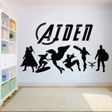 Vinyl Kids Superhero Wall decals sticker for Baby Wall decals Bedroom decoration Kids Girls Boys Teenager Room home decor HY762 vinyl wall sticker for kids boy teenager room wall decor excavator wall decals nursery bedroom stickers home decoration hy740