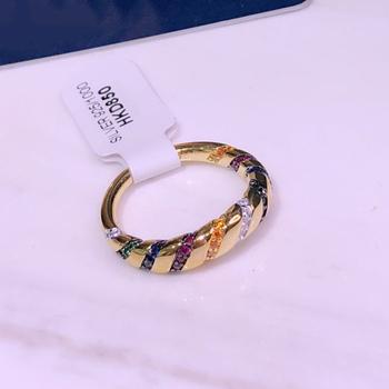 Czysta 925 Sterling Silver biżuteria Vintage pierścionki niebieska czerwonej linii Vintage Party pierścionki biżuteria ze srebra próby 925 kolorowa linia modne pierścionki tanie i dobre opinie Kobiety Cyrkon GDTC Prong ustawianie Brak Women GEOMETRIC BOHEMIA Koktajl pierścień