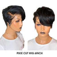 Maxine Pixie Cut Perücke 13x4 Kurzen Bob Spitze Front Menschliches Haar Perücken Pre Gezupft Mit Baby Haar Für schwarz Frauen 150 Dichte