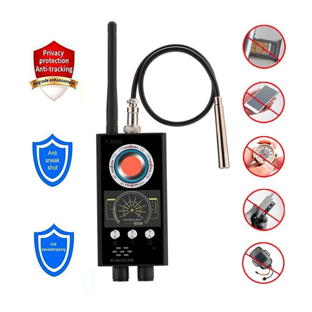 T9000 Spy Wiretap GSM Jammer Camara Espia Mini Hidden Camera Spy Camera Cell Phone GPS RF Sound Signal Detector Bug Wireltap