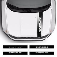 Film vinyle autocollant pour capot de voiture, pour Jeep Cherokee Compass Patriot Renegade Rubicon Trail Hawk Wrangler, accessoires automobiles