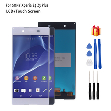 For Sony Xperia Z4 Z3 Plus LCD Display Touch Screen Digitizer Phone Accessories With Free Shipping And Gift Tools screen for sony xperia z3 compact lcd touch display d5803 d5833 digitizer frame for sony z3 mini screen replacement adhesive