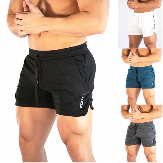 2019 New Summer Male Fitness Bodybuilding brand shorts Mesh Breathable Quick-drying Fashion Casual Joggers 4XL-shorts Sportswear