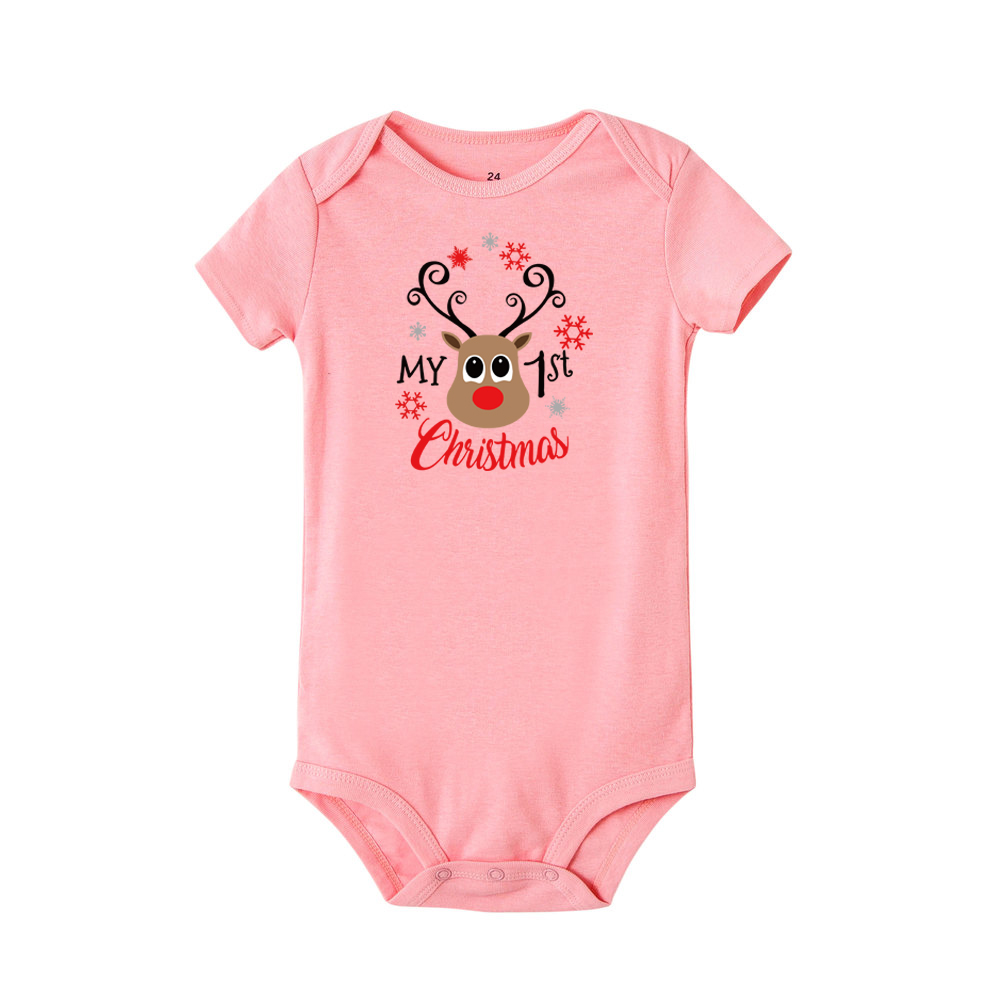 My First Christmas Toddler Jumpsuit Costumes for Infant Party Dress Newborn Baby Rompers Funny Short Sleeve Playsuit | Happy Baby Mama