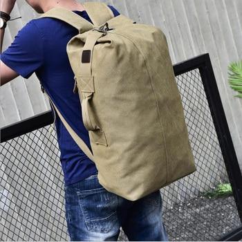 цена Large-capacity travel backpack Men's backpack Outdoor travel sports bag Canvas shoulder bag male women travel bags  duffle bag онлайн в 2017 году