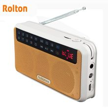 Rolton E500 ستيريو سمّاعات بلوتوث مضخم صوت لاسلكي محمول صندوق الصوت الموسيقى يدوي مكبرات الصوت راديو FM و مصباح يدوي