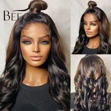 Beeos 180% хайлайтер цветные Свободные волнистые парики t часть
