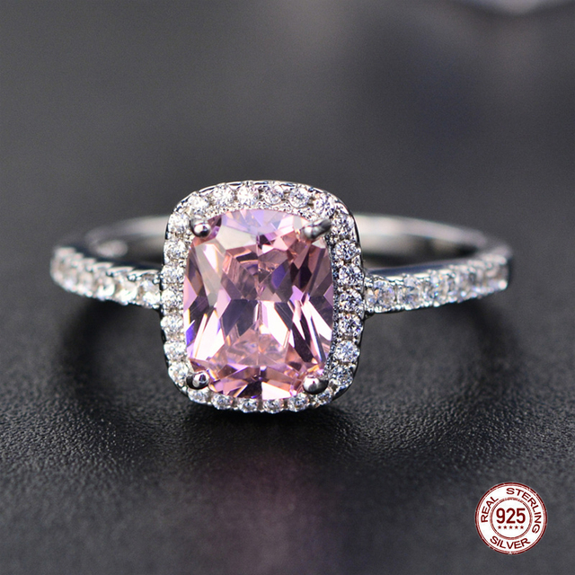 Trendy Aquamarine Amethyst Ring 925 Sterling Silver Gemstone Ring Natural For Jewelry Blue Sapphire Silver Ring Party 2