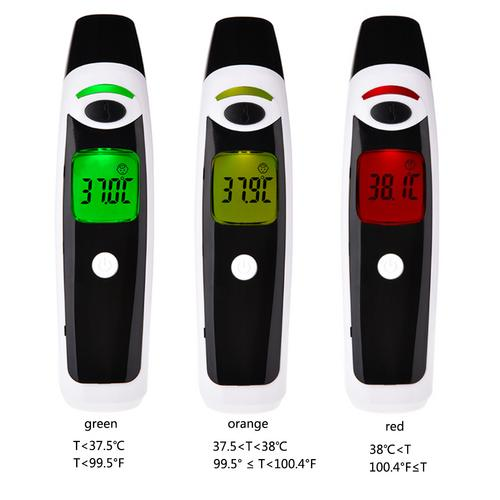 Forehead Ear Thermometer Non-Contact Infrared Thermometer Digital Clinical Instant Fever Temperature Infrared Scanner