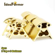 1 set Ecken 3D drucker teile Rahmen Reprap Alle metall Delta 3 kleine Top + 3 big bottom 2020 aluminium Serie profil Vertex Kossel