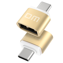 Free shipping DM Type-C Adapter silver USB C Male to USB2.0 Femail OTG converter for devices with typec interface