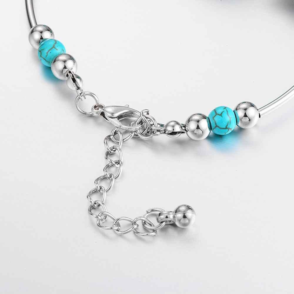2019 חדש חמה אופנה כלה Jewelr בציר בוהמי טיבטי כסף נוצת צמיד נשים צמיד תכשיטים