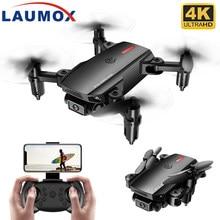 LAUMOX P2 Mini Drone Wifi FPV 1080P 4K HD podwójny aparat czujnik grawitacyjny wysokość trzymaj czarny szary składany Quadcopter RC drony zabawka