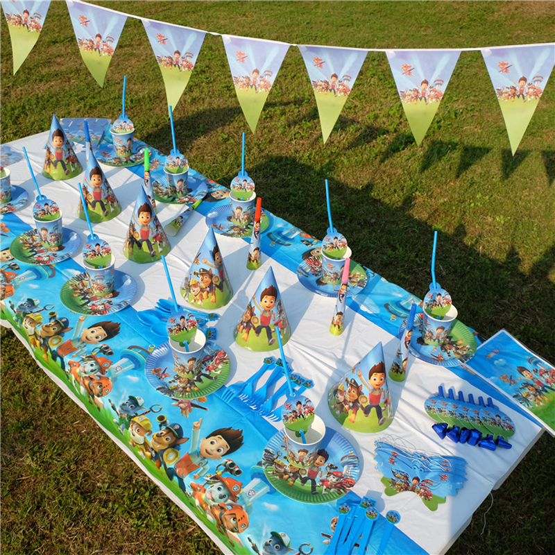 Paw Patrol Cartoon Pattern Birthday Holiday Party Children Birthday Party Supplies Party Set Event Decoration 45L