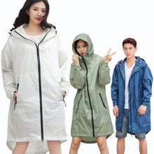 Long Thin Raincoat Women Men Waterproof hood Backpack Rain Coat Ponchos Jackets cloak Female Chubasqueros Big Size