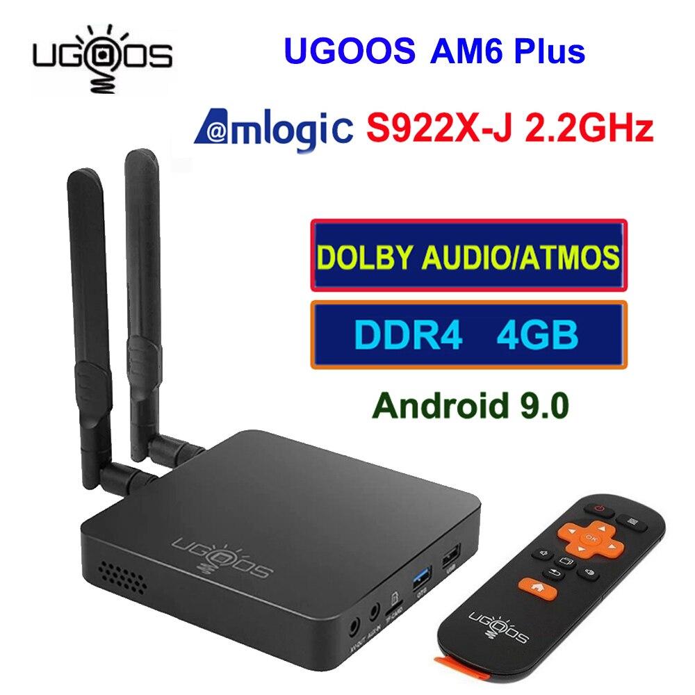 UGOOS AM6 Plus Amlogic S922X-J Set  Android 9.0 Tv Box 4GB DDR4 32GB 2.4G 5G Wifi 1000M BT5.0 4K Media Player For Dolby Atmos