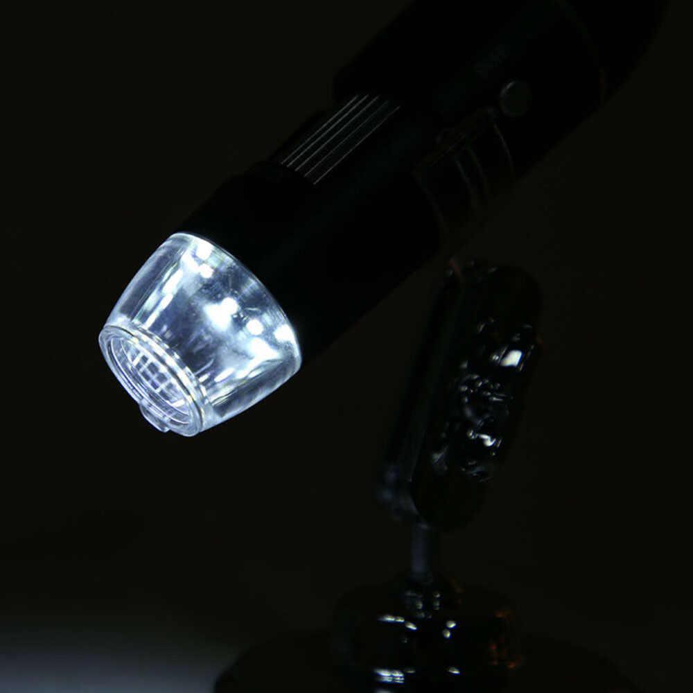 50X-500X USB กล้องจุลทรรศน์ดิจิตอลแว่นขยาย W/8LED ไฟโฟกัสปรับสำหรับ Windows XP ไฟ LED