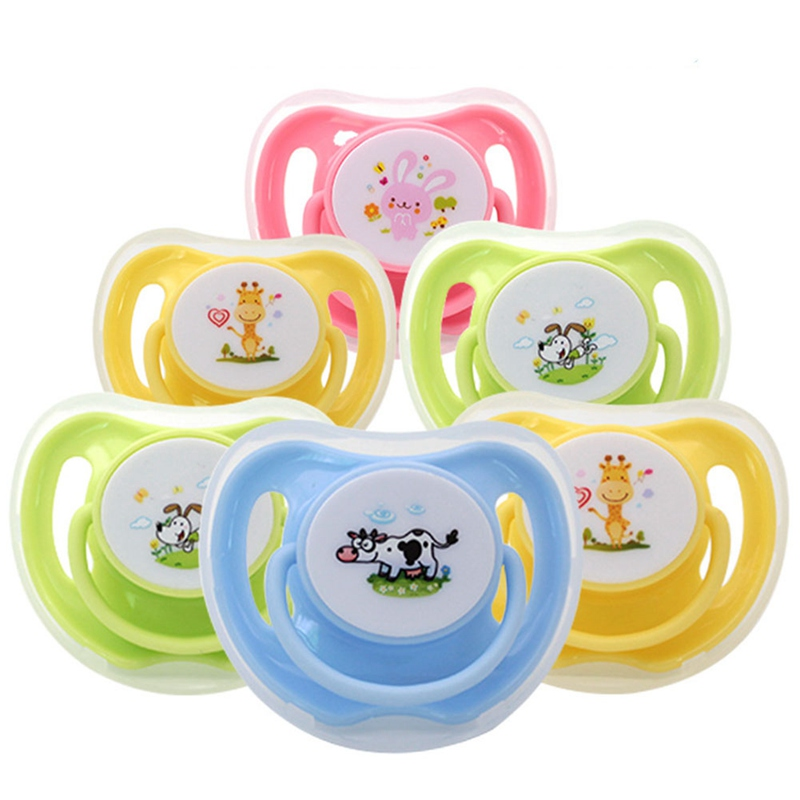 Baby Pacifier Silicone With Lid Butterfly Nipple Print  Pacifier Holder  Silicone Pacifier Clip  Baby Accessories 6-18 Months