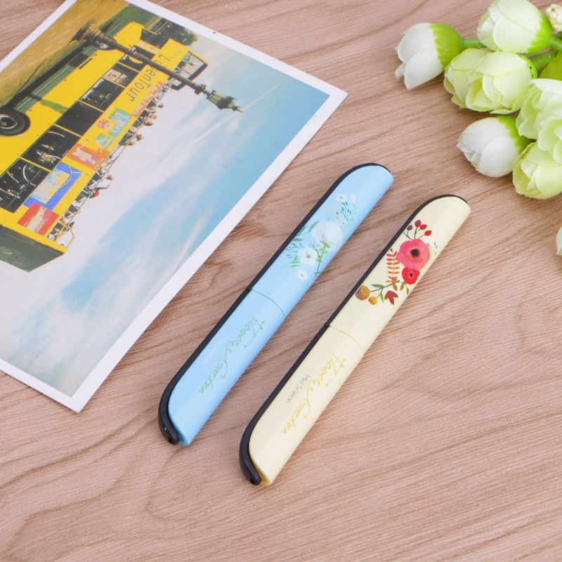 Creative Flowers Pattern Portable Scissors Stationery Scissors Novelty Scissors H7EC