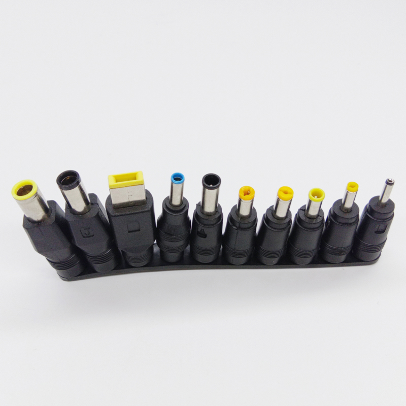 Image 2 - 10pcs/set Universal DC Power Supply Adapter Charger Conversion Plugs For Lenovo PC Laptop Notebook-in Computer Cables & Connectors from Computer & Office