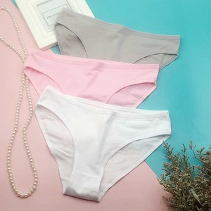 3 Pcs/Lot Hot Sale 2020 Good Quality Women Underwear Cotton Solid Color Brief Panties M L XL 9173