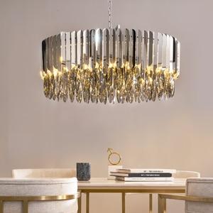 Image 3 - Kristal avize krom dekoratif avize restoran otel lambası oturma odası için
