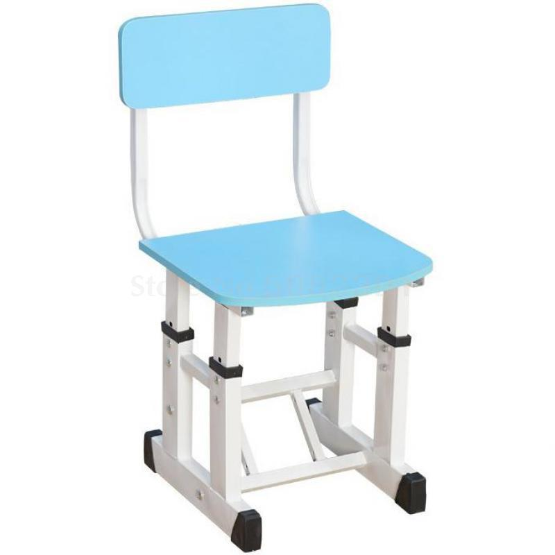 H1 Children's Study Chair Primary School Students'chairs And Stools Adjustable Lifting Solid Wooden Dining Chairs, Backs, Desks