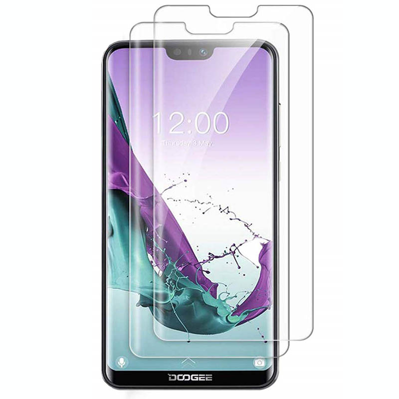 2PCS For Doogee N10 N20 S90 Pro X100 X90L X90 Y8 Plus Y8c Tempered Glass Protective 9H 2.5D Screen Protector Glass Film Cover(China)