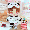 20cm Doll Clothes Suit  Doll Panda  Dress Love Bean Backpack