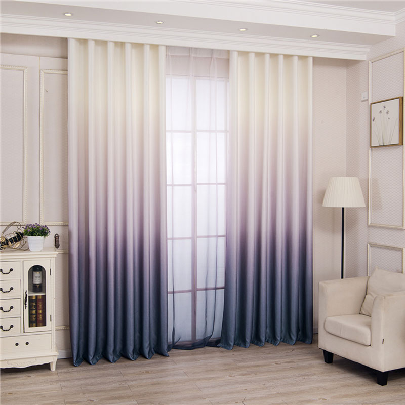 Modern 3d Printed Gradient Blackout Curtains Blinds Drapes Bedroom Window Curtains For Living Room Thick Curtains For Kitchen