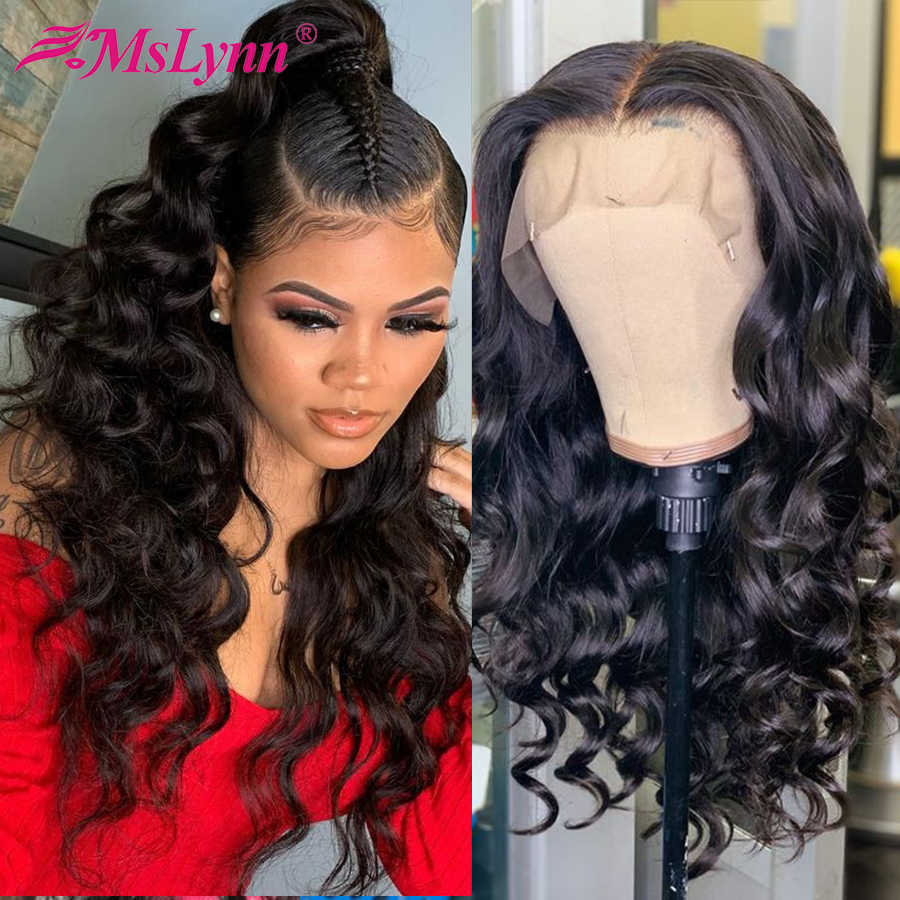 Loose Wave Wig Lace Front Human Hair Wigs For Black Women 13x6 Lace Front Wig Brazilian Lace Wig Mslynn Remy Hair