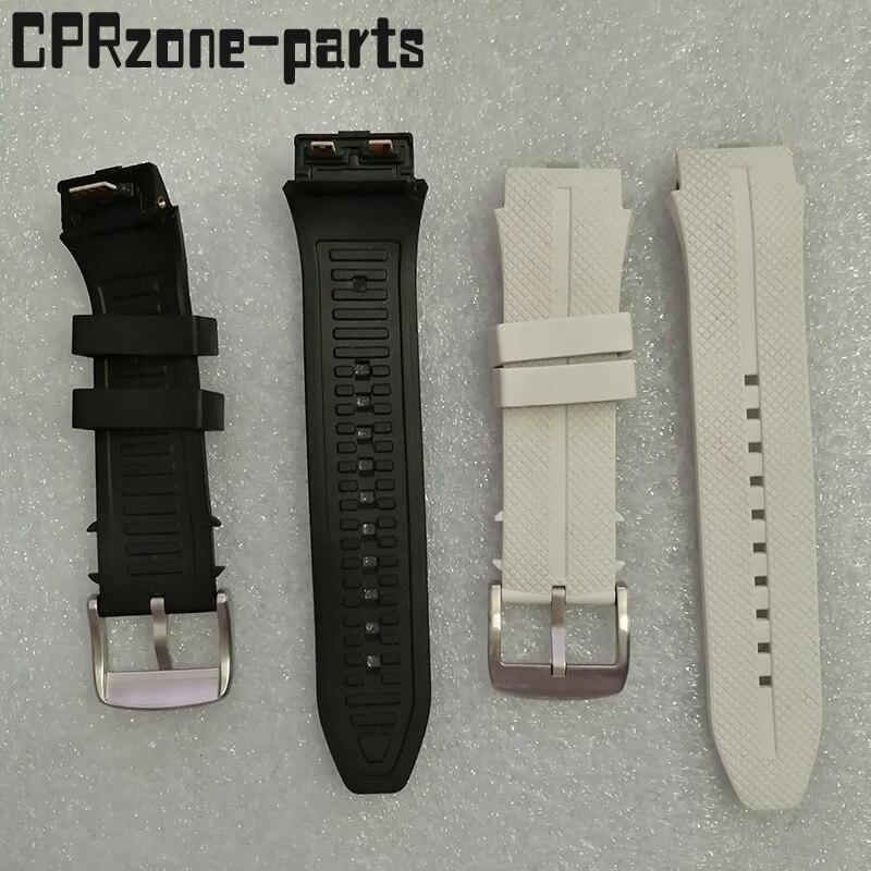 100% гарантия ремешок для часов пластиковые резиновые ремни с антенной для LG Urbane 2 LTE w200 Смарт-часы Бесплатные Винты + Инструменты