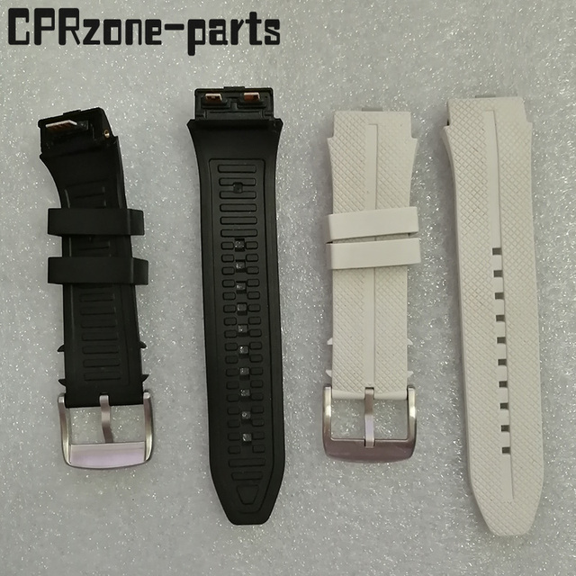 100% Warranty Watchband Watch Strap Plastic Rubber Straps with Antenna For LG Urbane 2 LTE w200 Smart Watch Free screws + tools