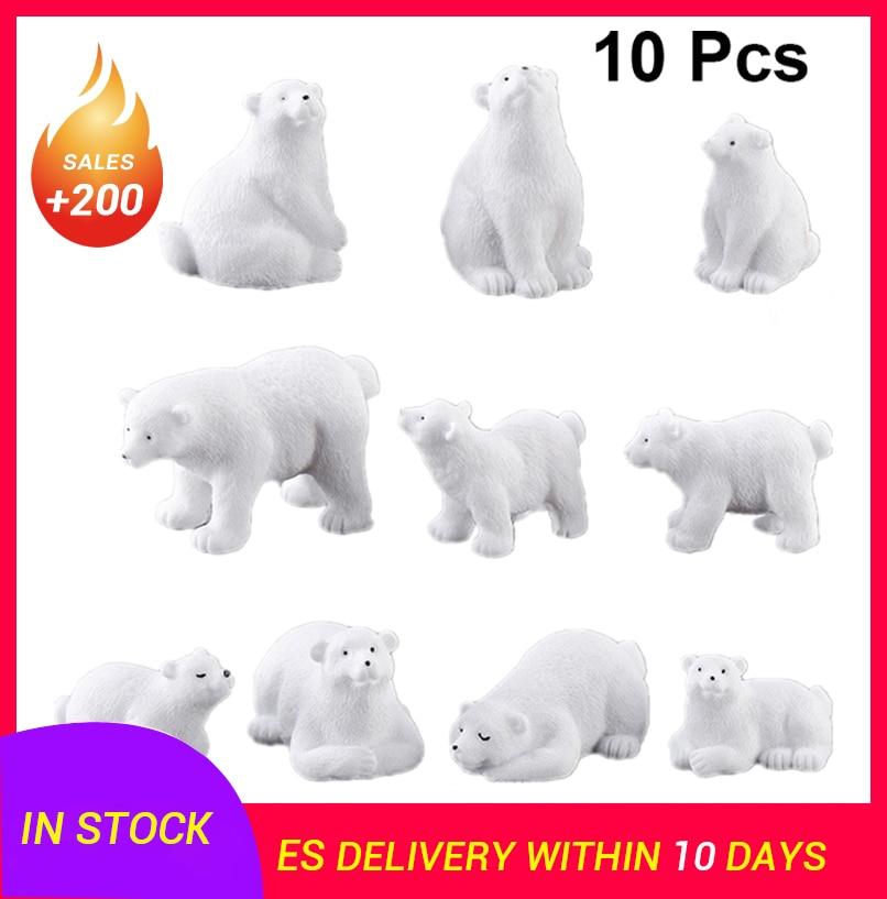 10pcs Home Decor Landscape Polar Bear Ornament Adorable Polar Bear Adornment Craft Desktop Adornment Home Decoration Accessories To Ensure A Like-New Appearance Indefinably
